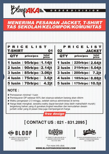 price list order division