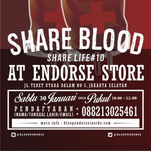 donor darah bloop endorse- share blood share life
