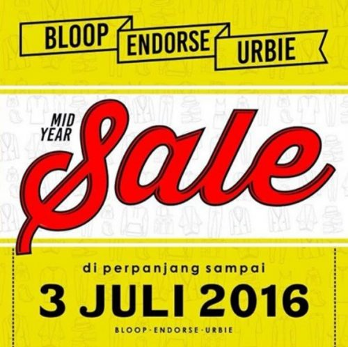 mid year sale bloop endorse urbie  2016