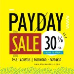 PAYDAY SALE 30% FOR ONLINE SHOPPING
