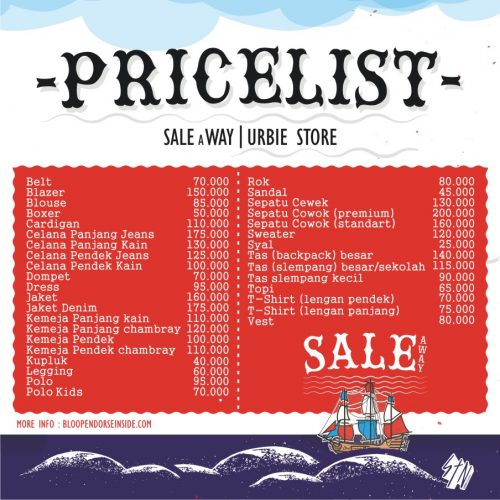 price list sale away bloop endorse urbie